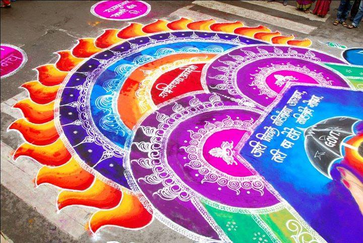 diwali rangoli design by dhanushree -  22