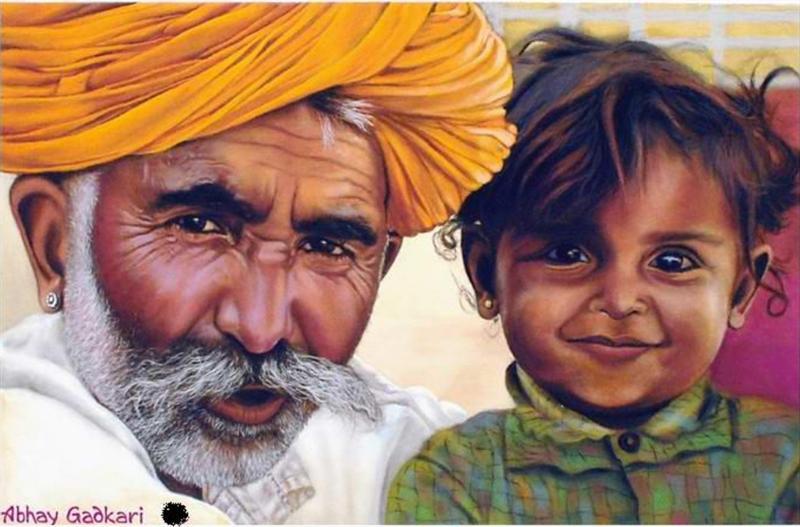 portrait rangoli design by abhay gadkari -  3