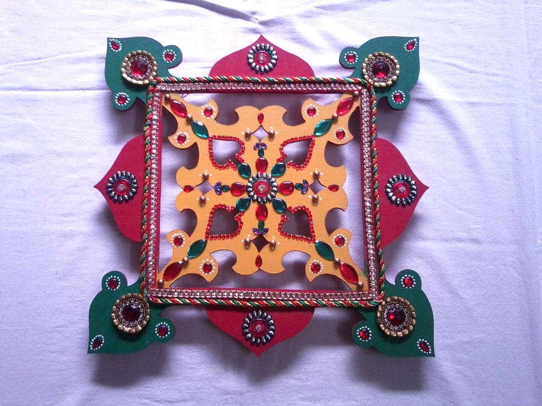 3 wooden rangoli design by shreeji