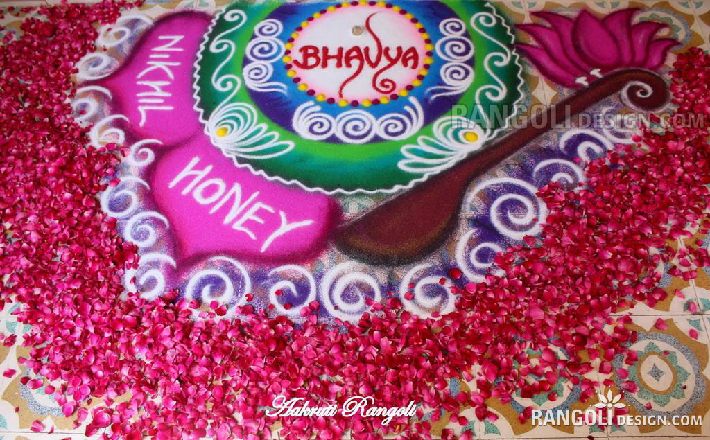 wedding rangoli design
