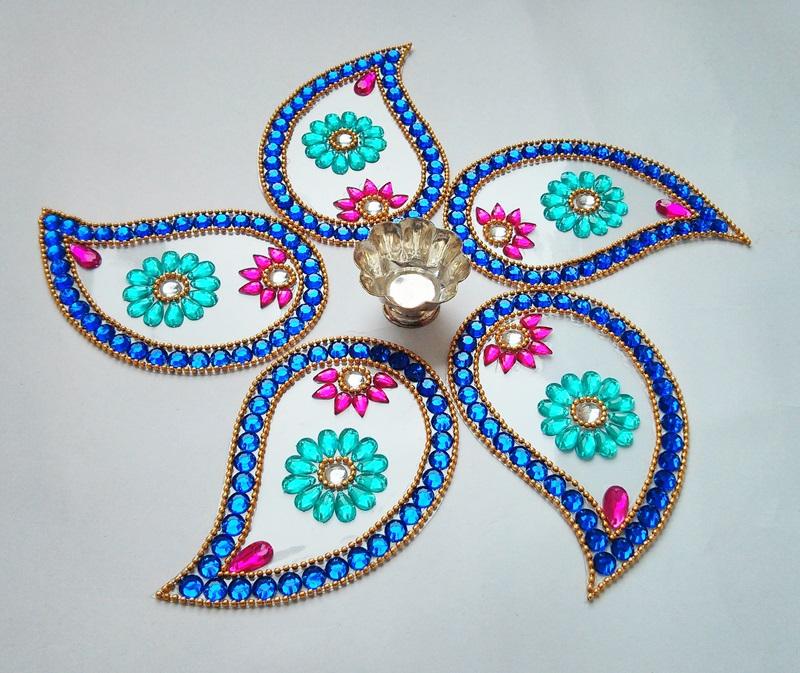 5 kundan rangoli design