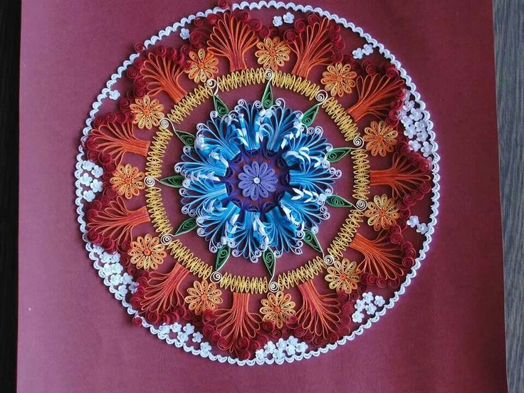 5 quilling mandala rangoli design