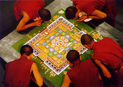 5 tibetan sand painting rangoli design