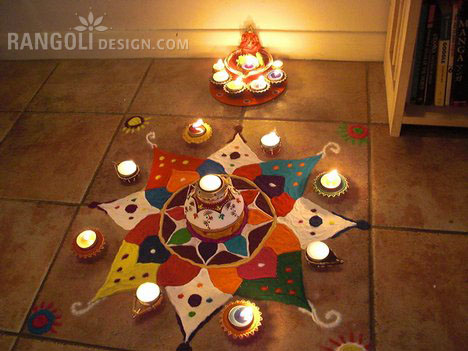 6 easy rangoli design for diwali
