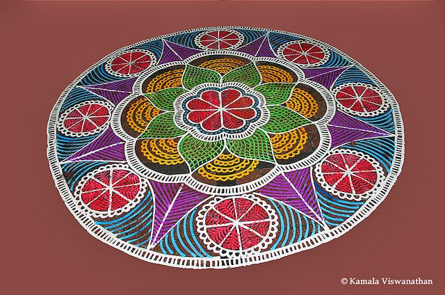 6 mandala rangoli design by kamala vishwanathan