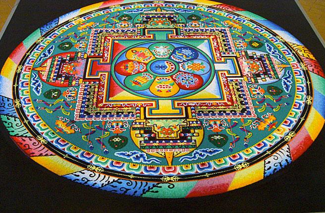 6 tibetan sand painting rangoli design