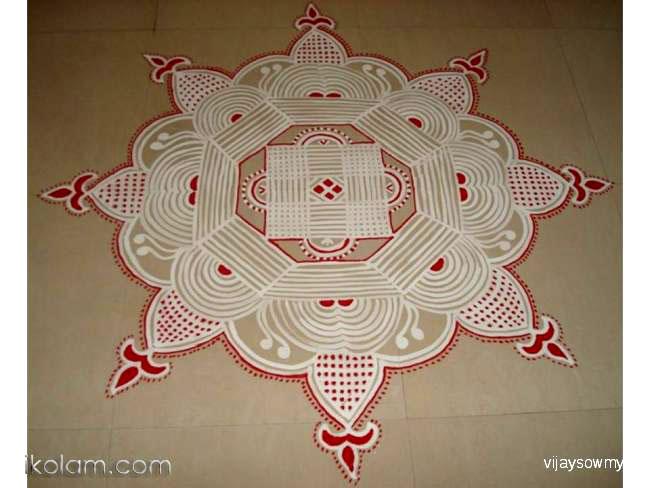 7 navaratri festival rangoli design by vijaysowmya