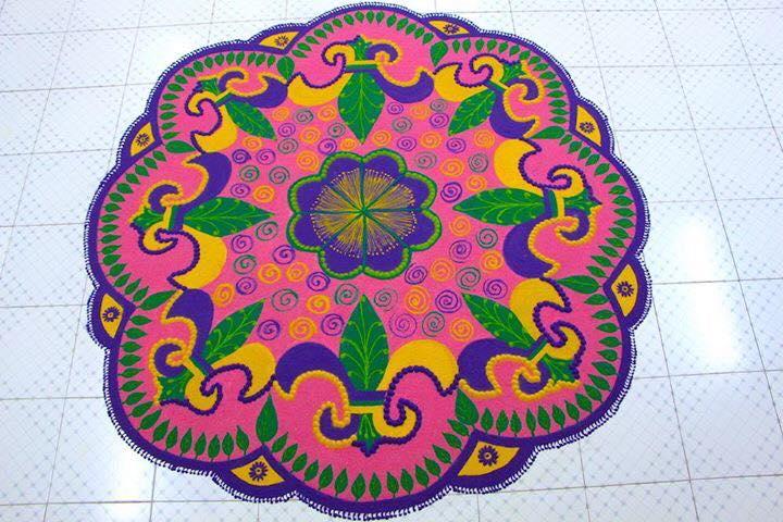 8 diwali rangoli design by aakruti