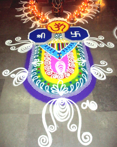 8 freehand rangoli design by akruti