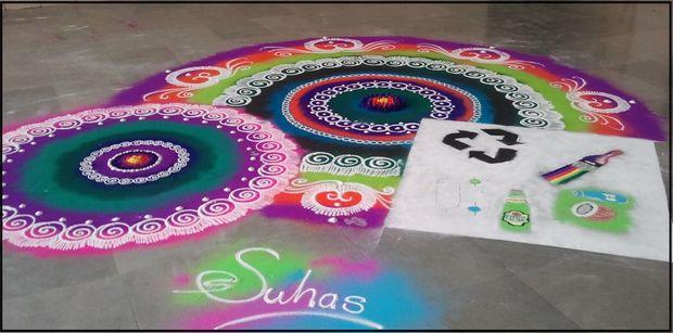 8 sanskar rangoli design by suhas
