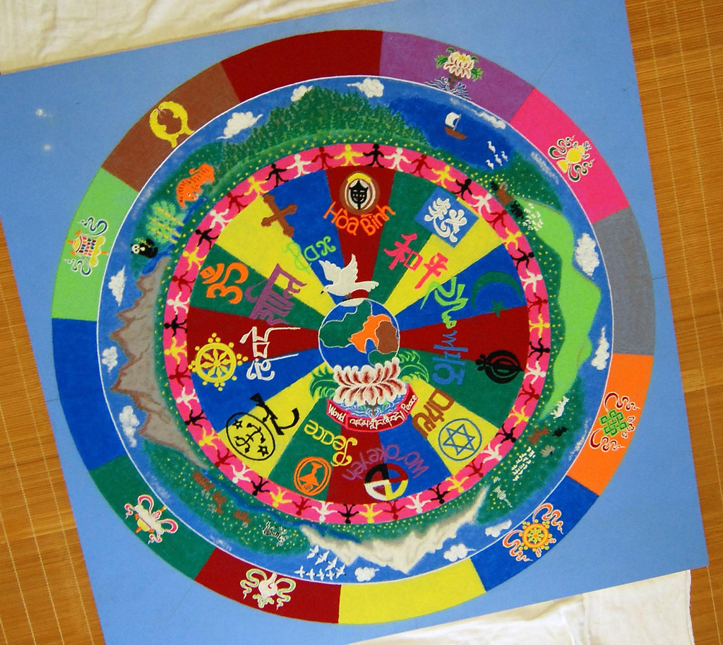 9 tibetan sand painting rangoli design by donald vish