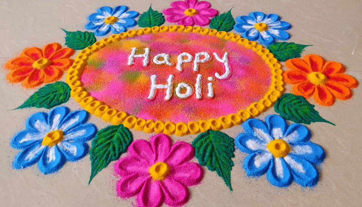 14 holi color festival rangoli