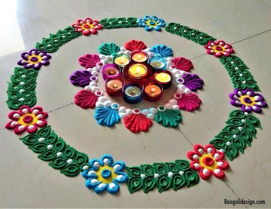 21 holi color festival rangoli design