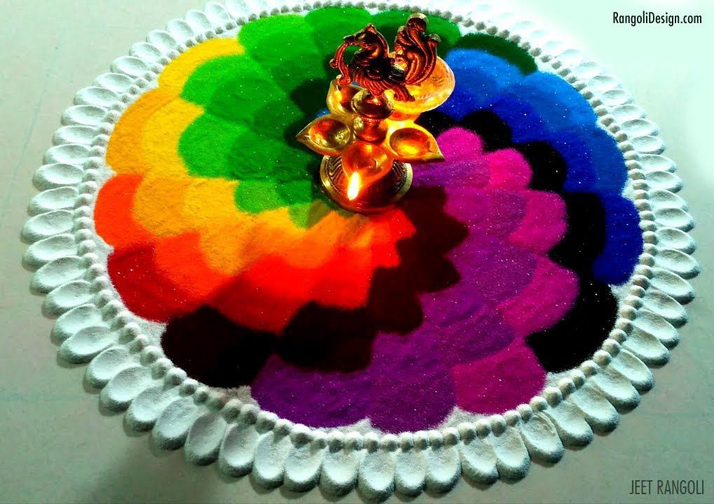 3 rangoli design with colors for holi