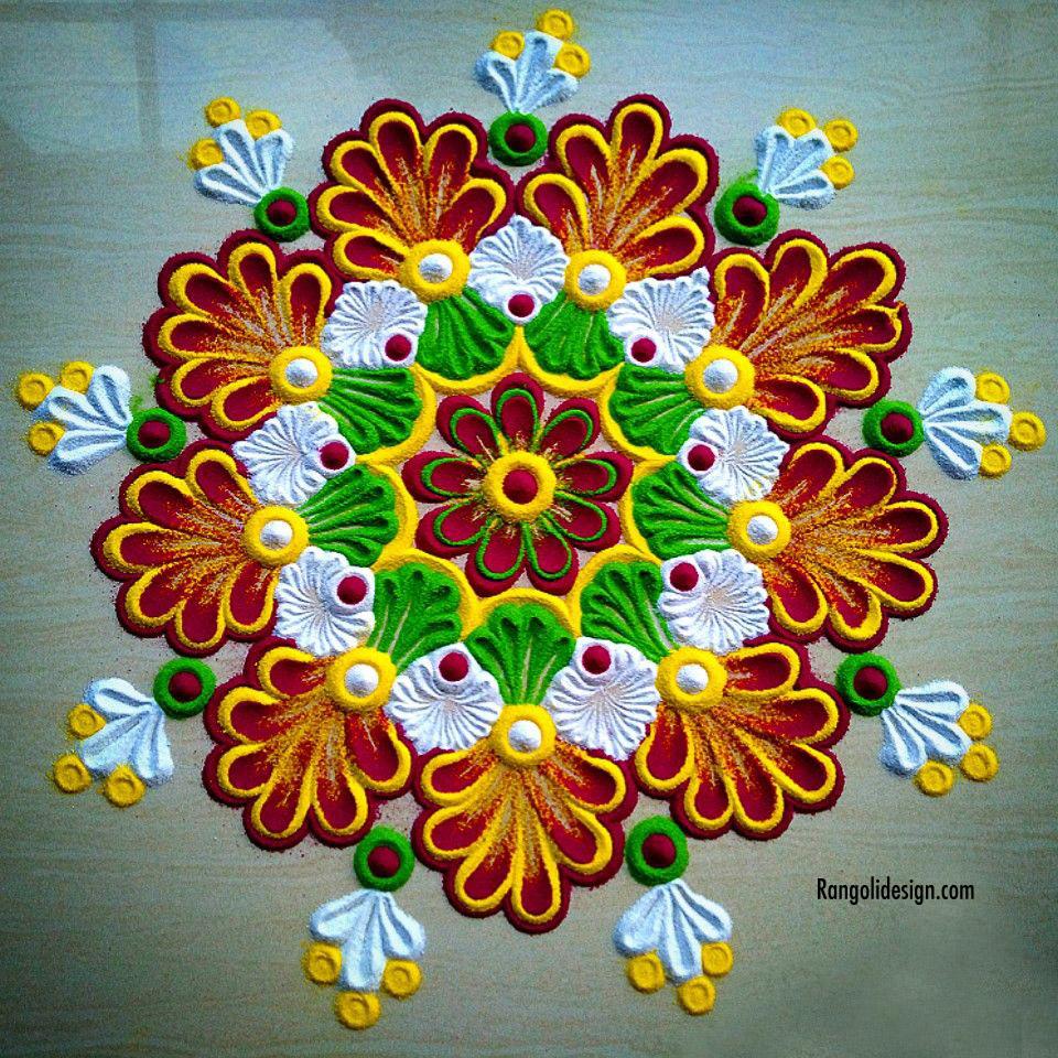 7 rangoli design for spring festival
