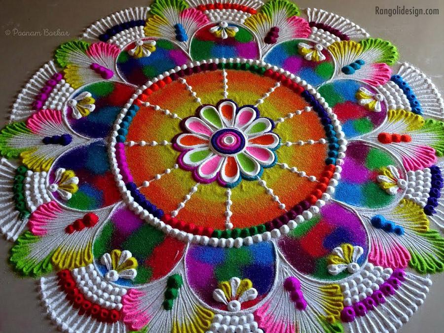 8 multicolor rangoli for holi