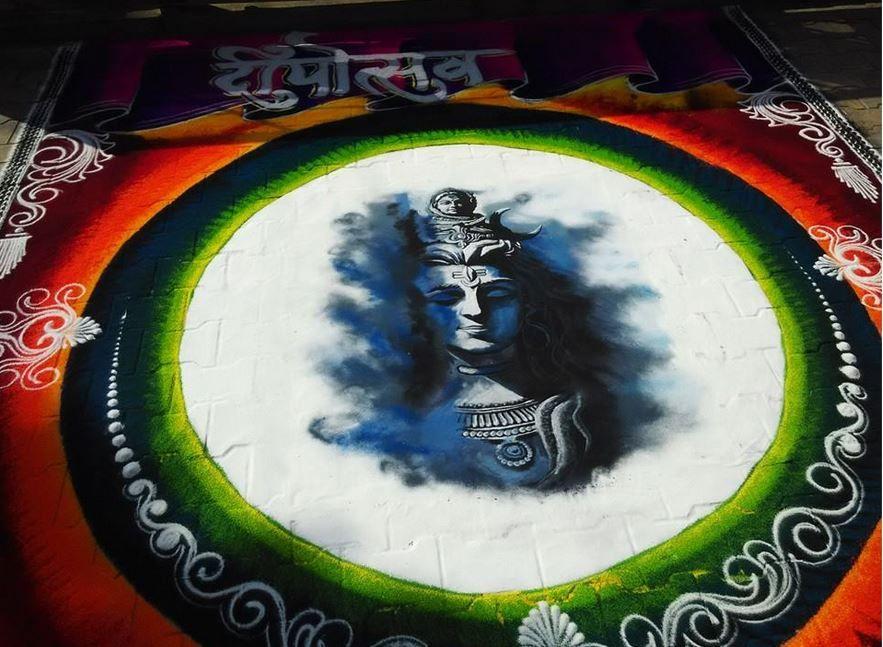 sanskar bharathi rangoli design shiva mahashivratri