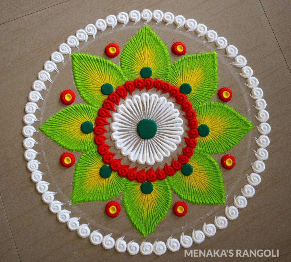sanskar bharthi rangoli design petals by menaka