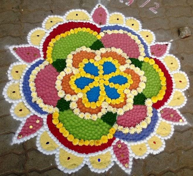 1 kolam design by kamala corner