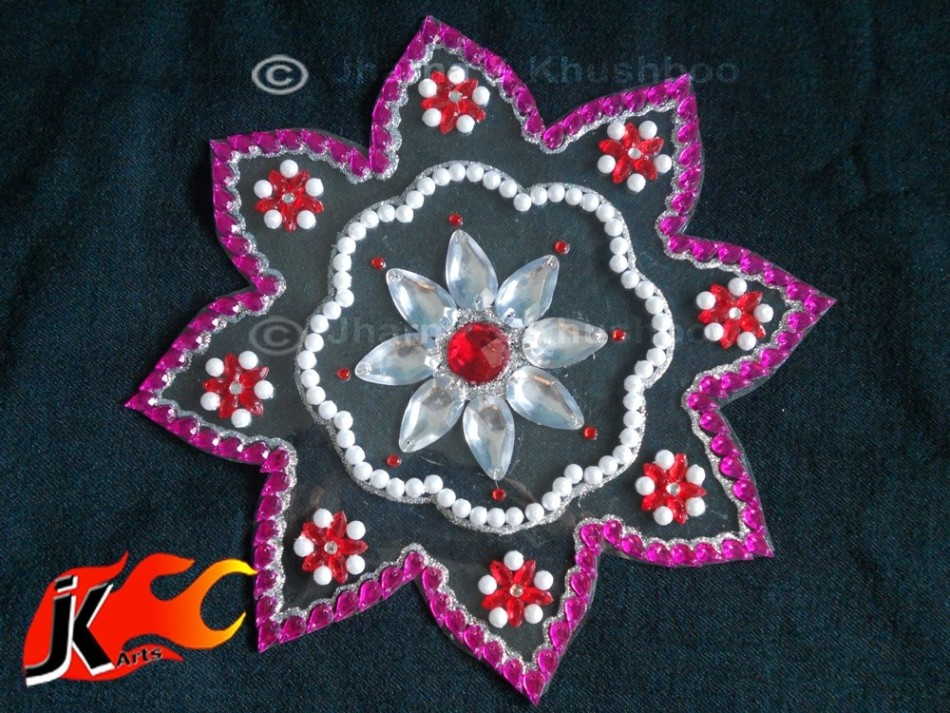 1 kundan rangoli design by jk arts