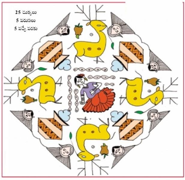 1 rangoli design by honey