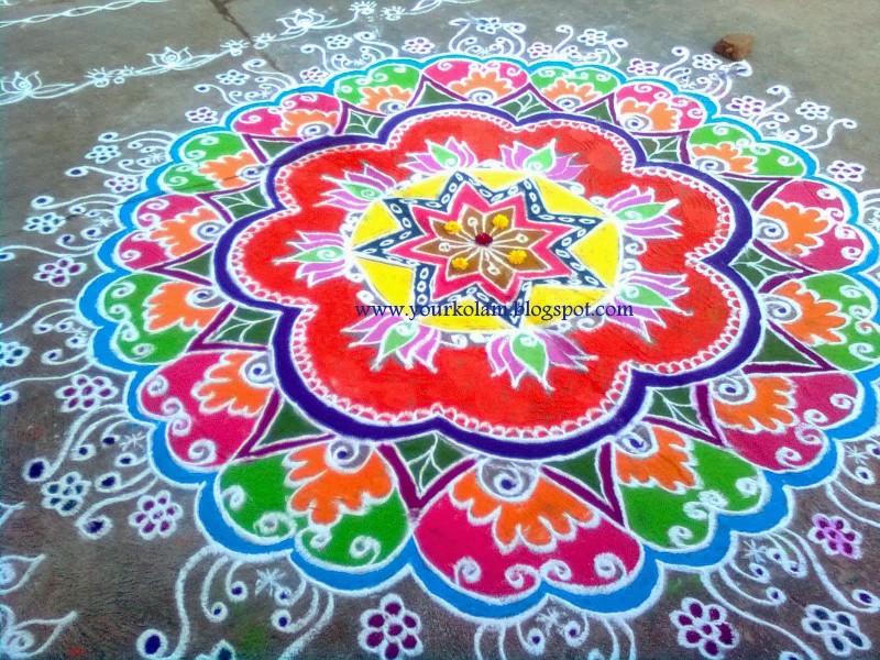 1 rangoli design by vijaya sharadha