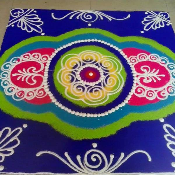 sanskar bharti rangoli design by rani manohar tambe