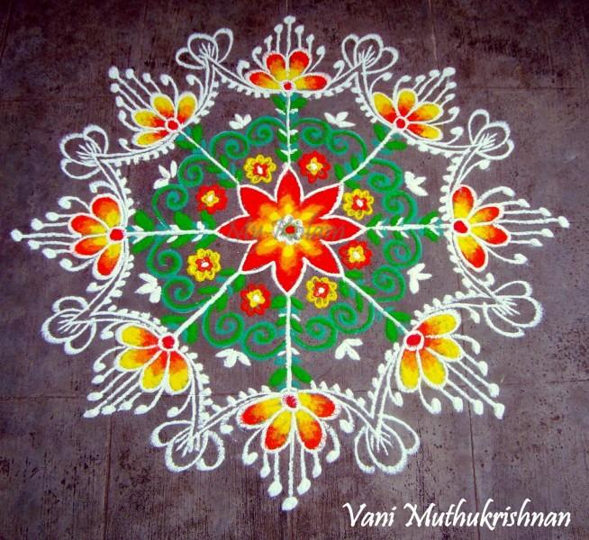 10 rangoli design by vani muthukrishnan