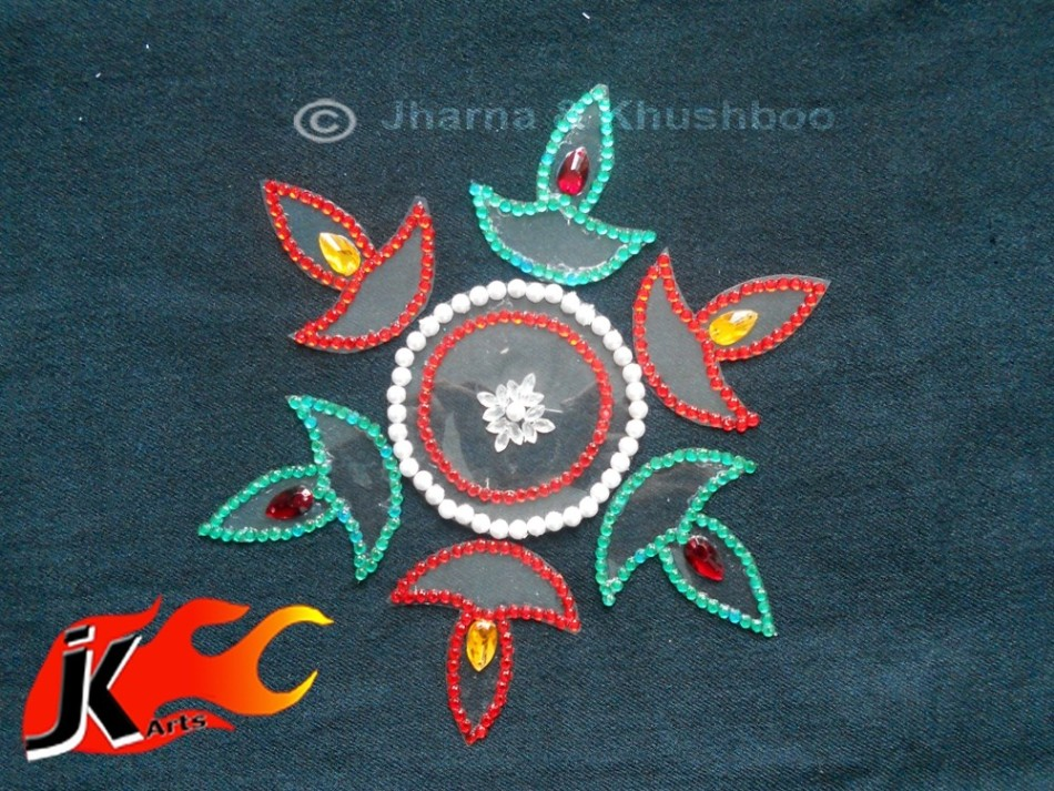 11 kundan rangoli design by jk arts