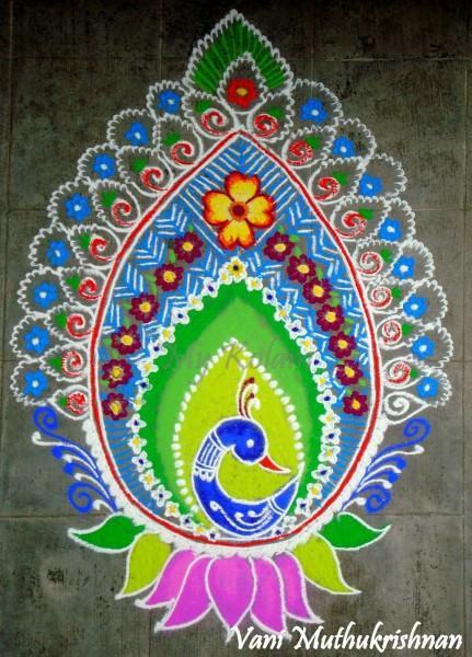 12 rangoli design by vani muthukrishnan