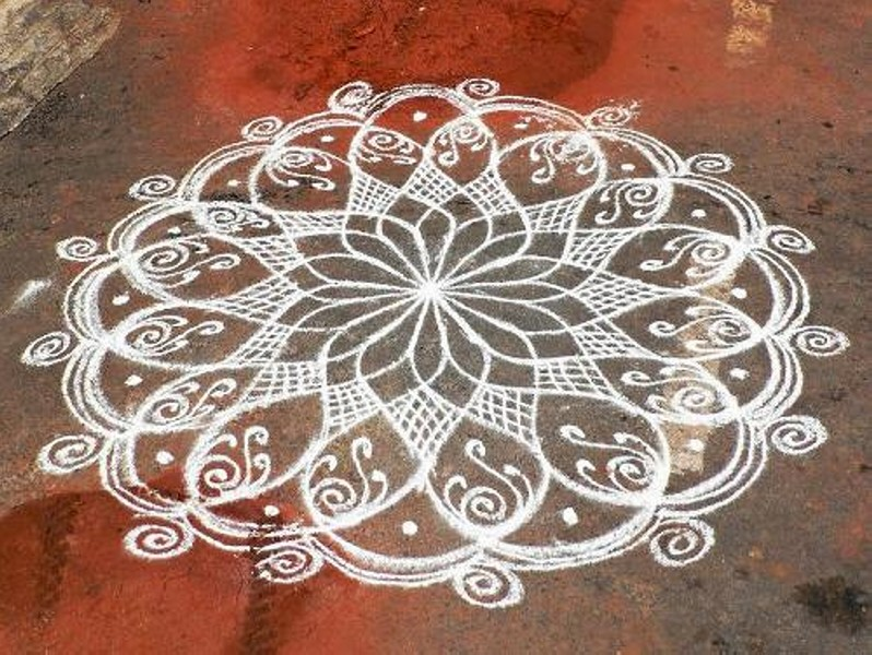 12 simple rangoli design