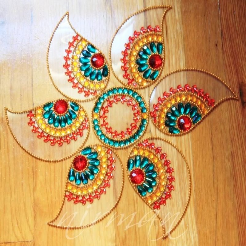 14 kundan rangoli design by nirman