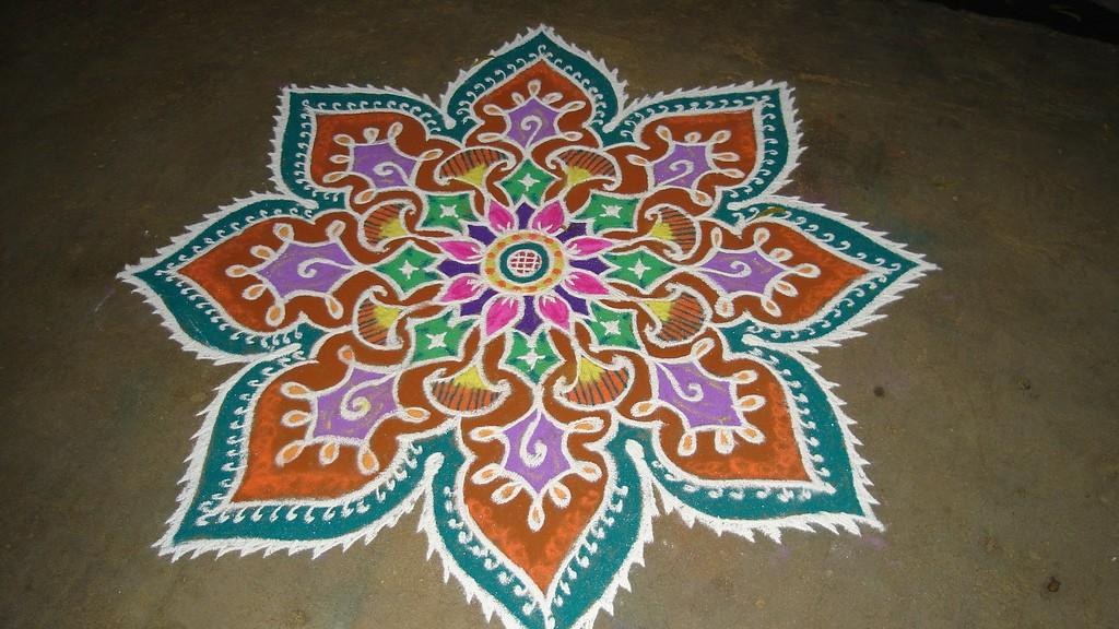 14 rangoli design by keshav pai