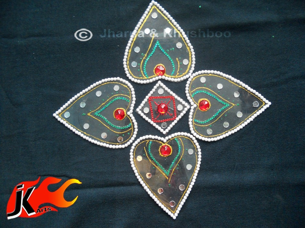 15 kundan rangoli design by jk arts
