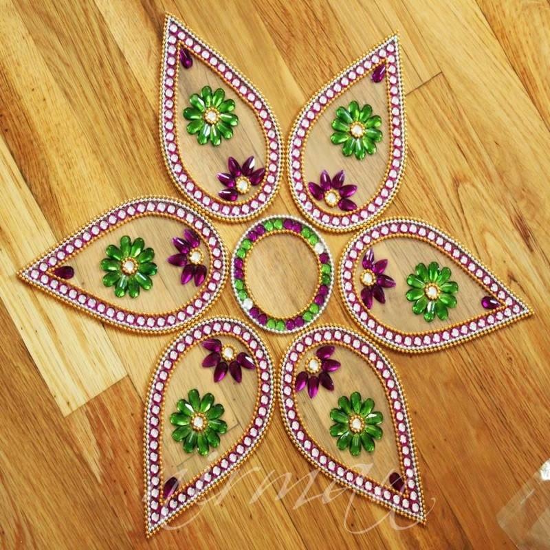 15 kundan rangoli design by nirman