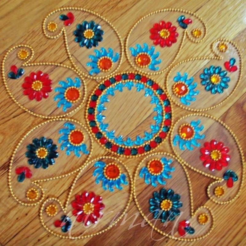 17 kundan rangoli design by nirman