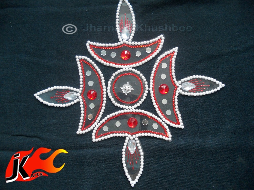 18 kundan rangoli design by jk arts