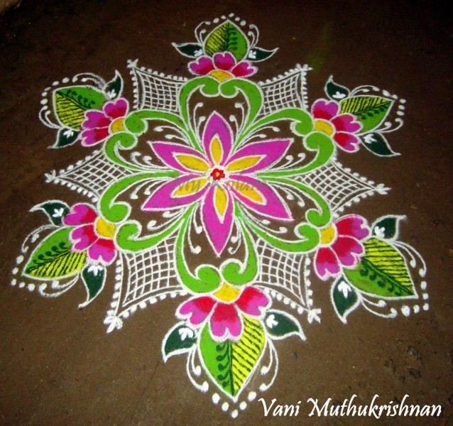 18 rangoli design by vani muthukrishnan