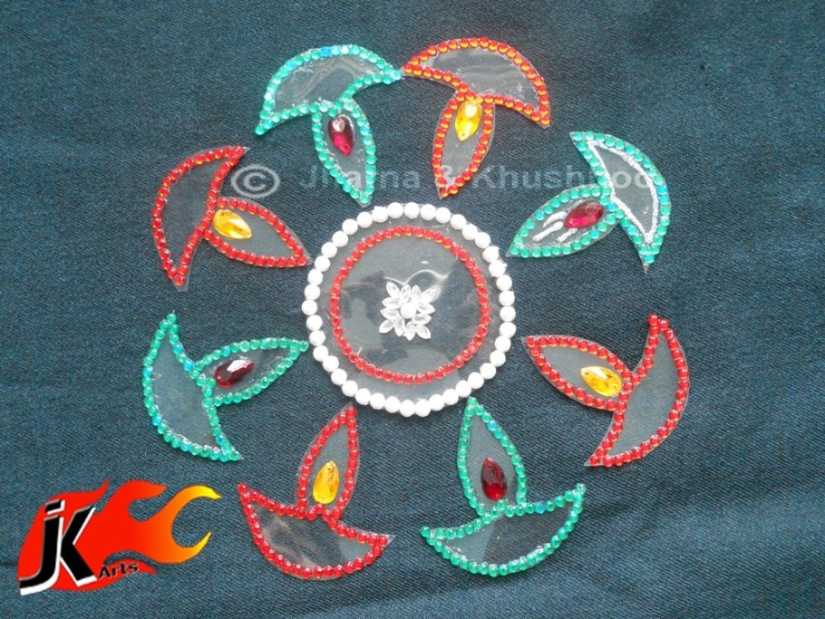 19 kundan rangoli design by jk arts