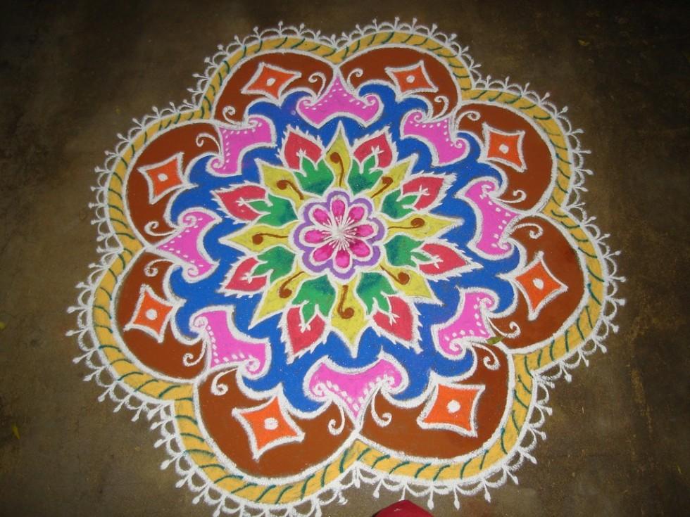 19 rangoli design by keshav pai