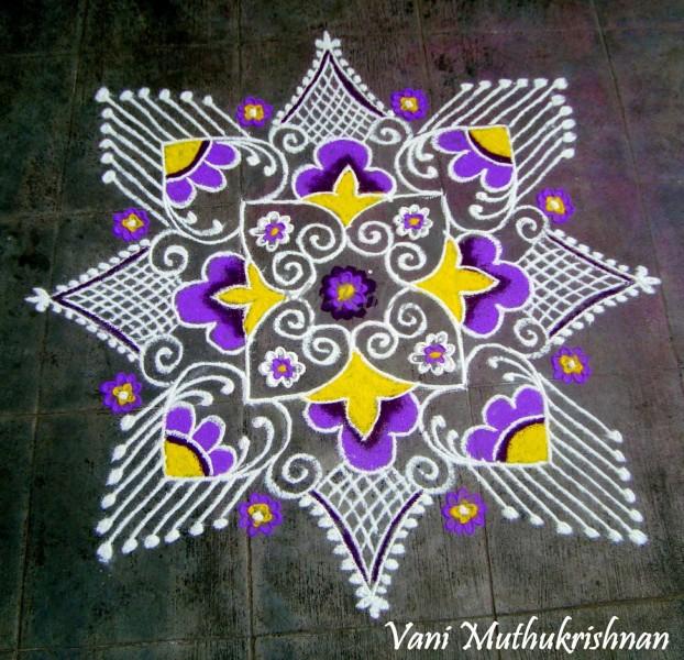 19 rangoli design by vani muthukrishnan