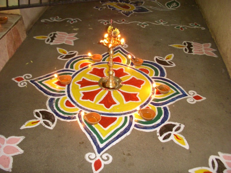 2 kolam design by kamala corner