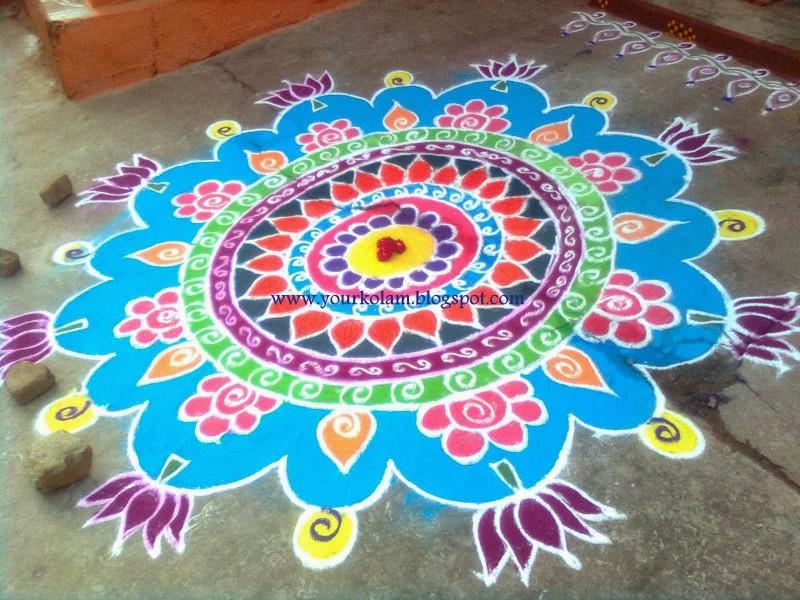 2 rangoli design by vijaya sharadha