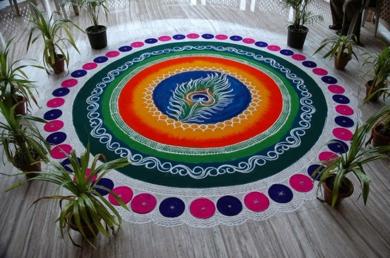 inspirational sanskar bharti rangoli design by komal patil