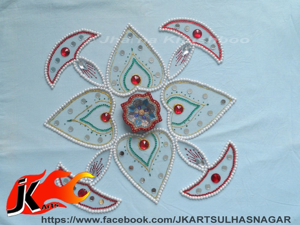 20 kundan rangoli design by jk arts