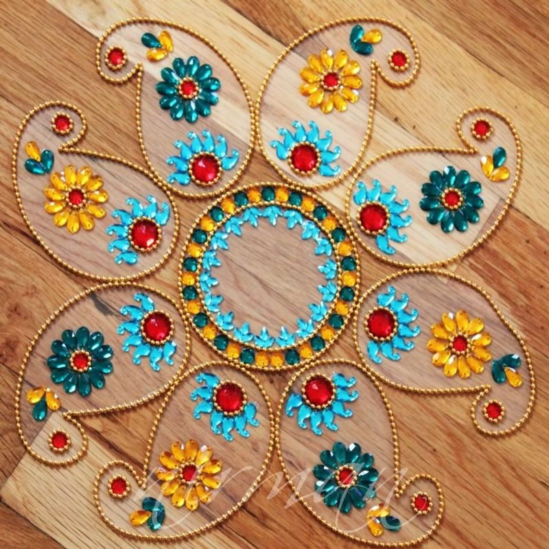 20 kundan rangoli design by nirman