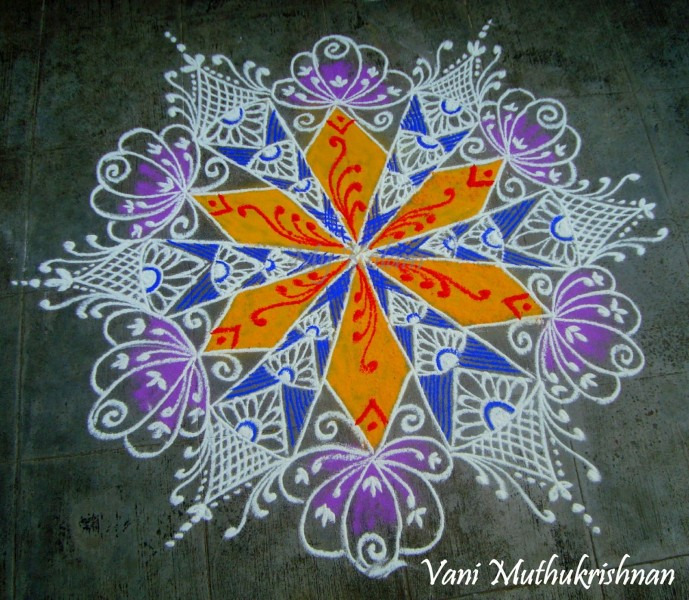 20 rangoli design by vani muthukrishnan