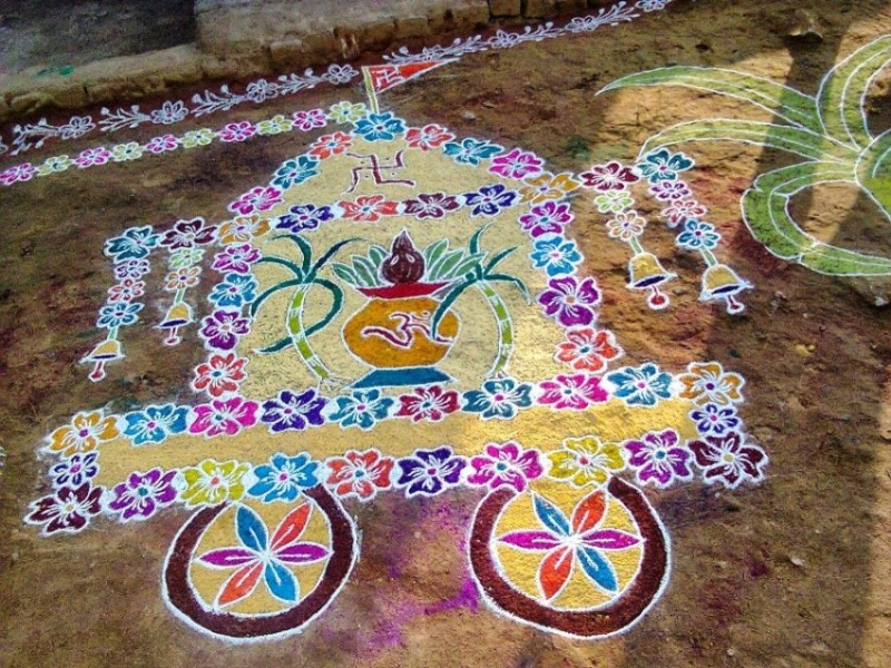 21 simple rangoli design