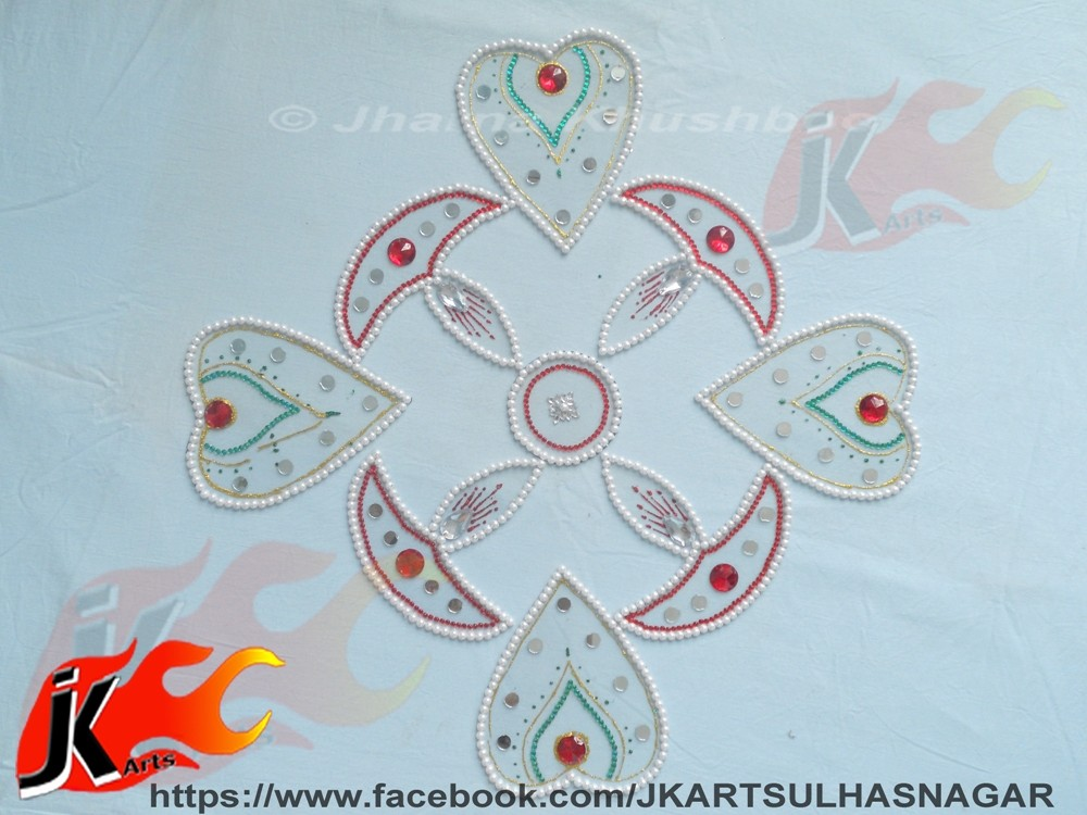 25 kundan rangoli design by jk arts