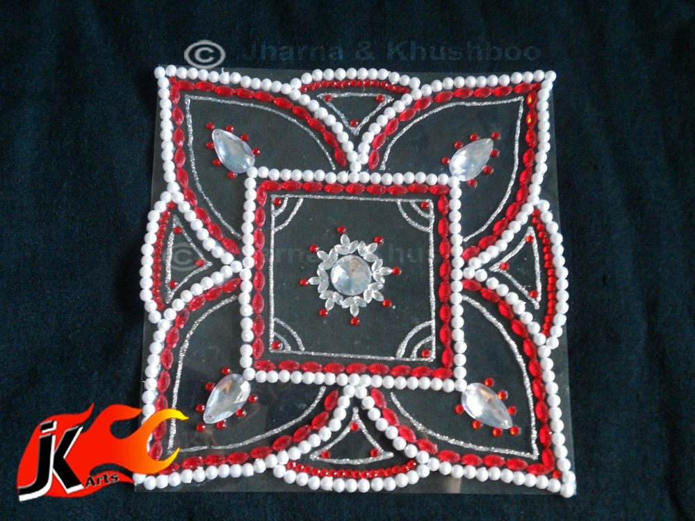 3 kundan rangoli design by jk arts